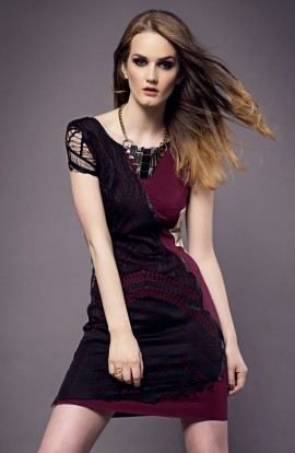 Mary Silk Cotton Lace Dress