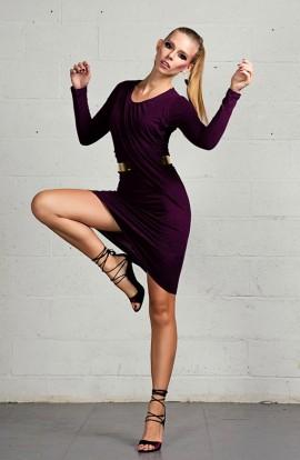 Ilayda asymmetric knee length Dress