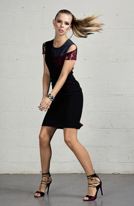 Blake Wool Crepe Asymmetric Dress