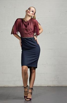 Nolan Silk Chiffon/Wool Dress