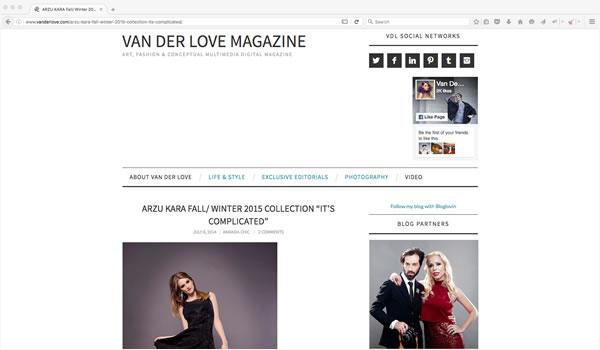 Van Der Love Magazine Arzu Kara